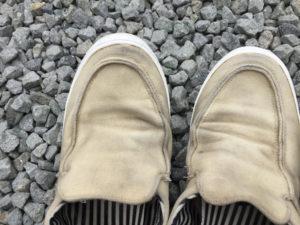 浸け置きした後の靴