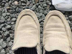 洗う前の靴