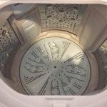脱水後の洗濯槽