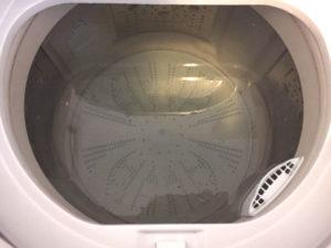 過炭酸ナトリウムを浸け置きした洗濯槽