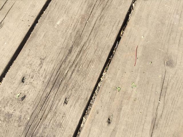 隙間に詰まった砂
