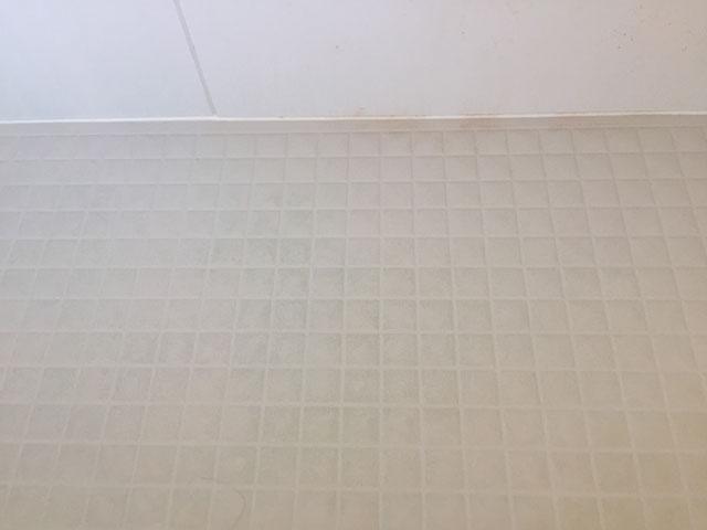 掃除する前のお風呂の床