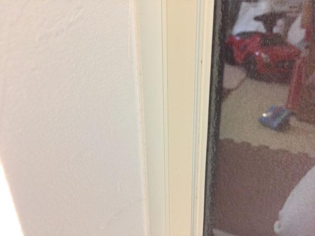 クリームを塗って放置した窓