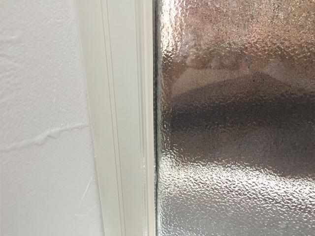 クリームを塗って拭き取った窓
