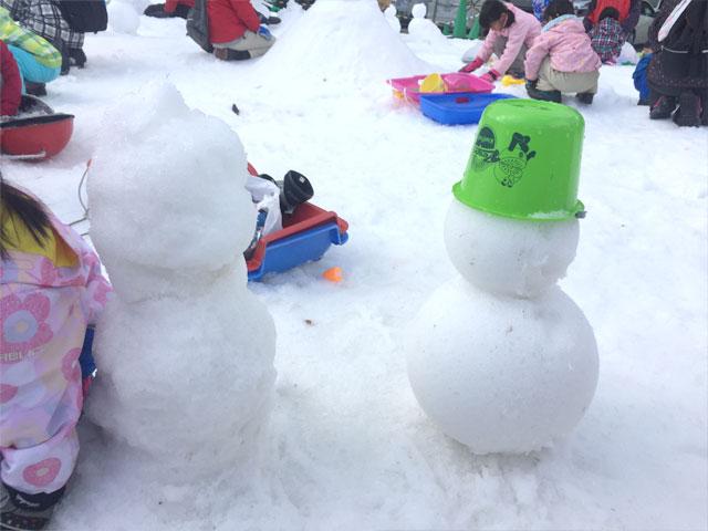 雪だるまの比較